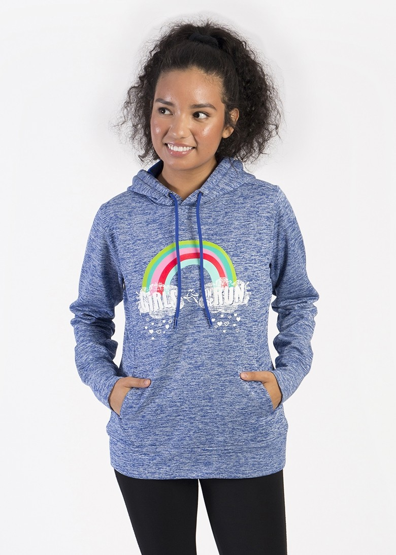 Rainbow Clouds Adult Hooded Pullover