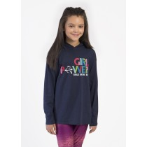 Girl Power Neon Youth Lightweight Hoodie