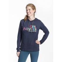 Girl Power Neon Ladies Lightweight Hoodie