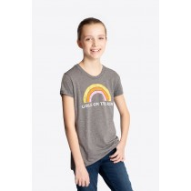 Distressed Rainbow short sleeve shirt