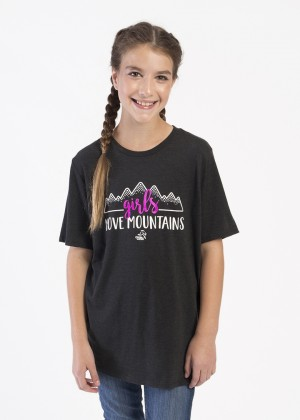 Girls Move Mountains Shirt Youth
